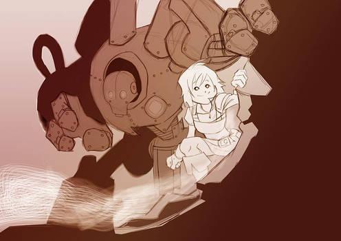 Garota e seu golem