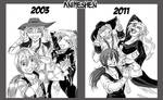 Then and Now by Animeshen