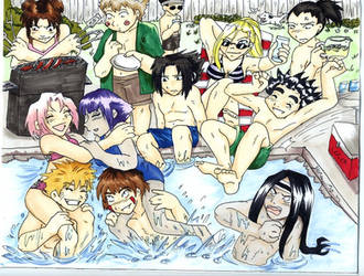 Pool Party by Animeshen