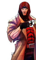 gambit fanart 2 by TheBabman