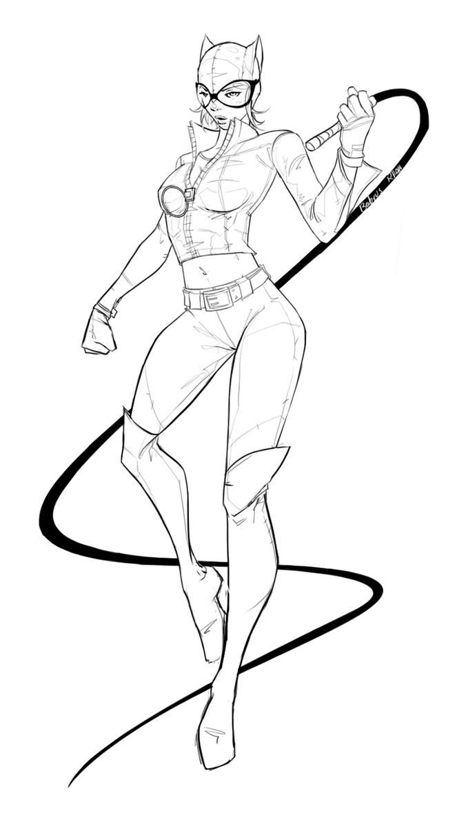 Catwoman free colouring pages for Catwoman printable coloring pages