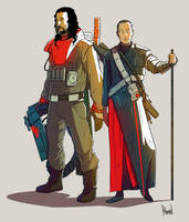 Chirrut and Baze by TheBabman