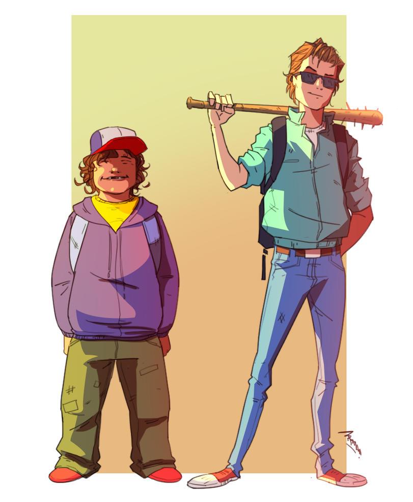 Steve and Dustin by TheBabman