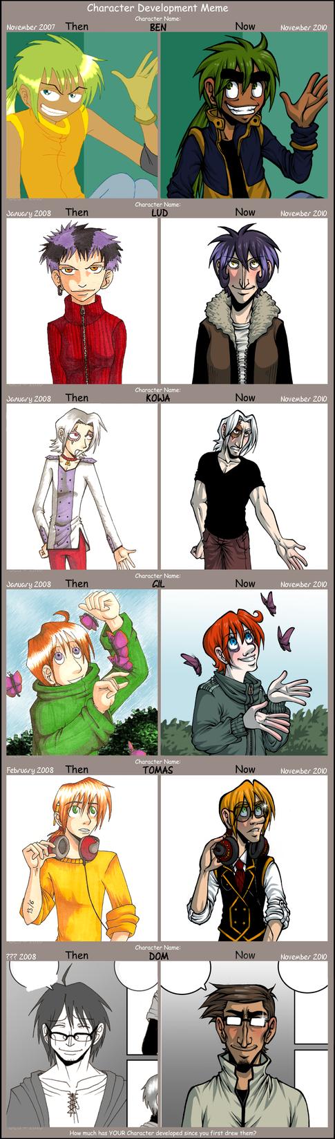 Character Development Meme by GreenLiquidBrain
