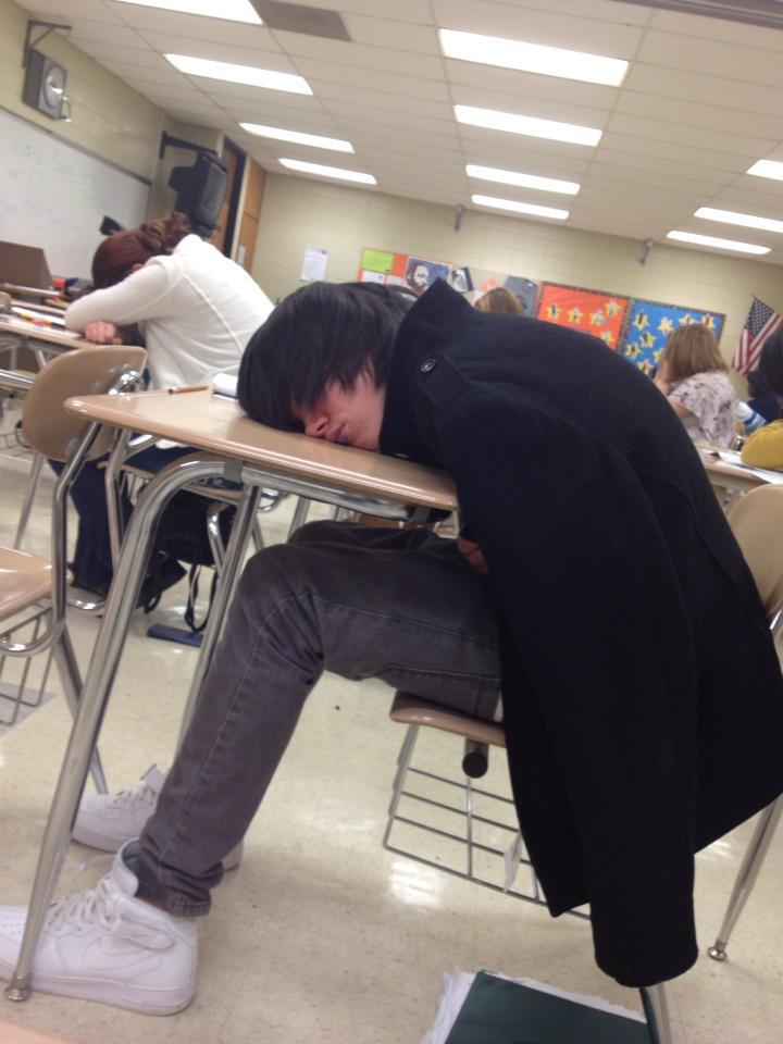 Hunter sleeping in class by NutellaNerd on DeviantArt
