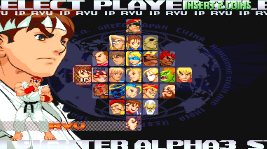 Street Fighter Alpha 3 Character Select Screen by ...