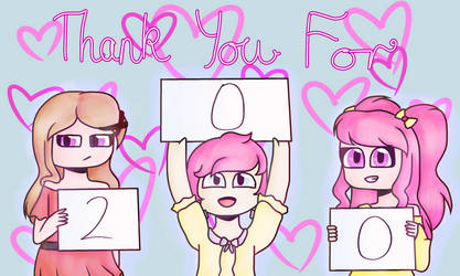 Thanks For 200 Watchers! by xNikkiArtsx
