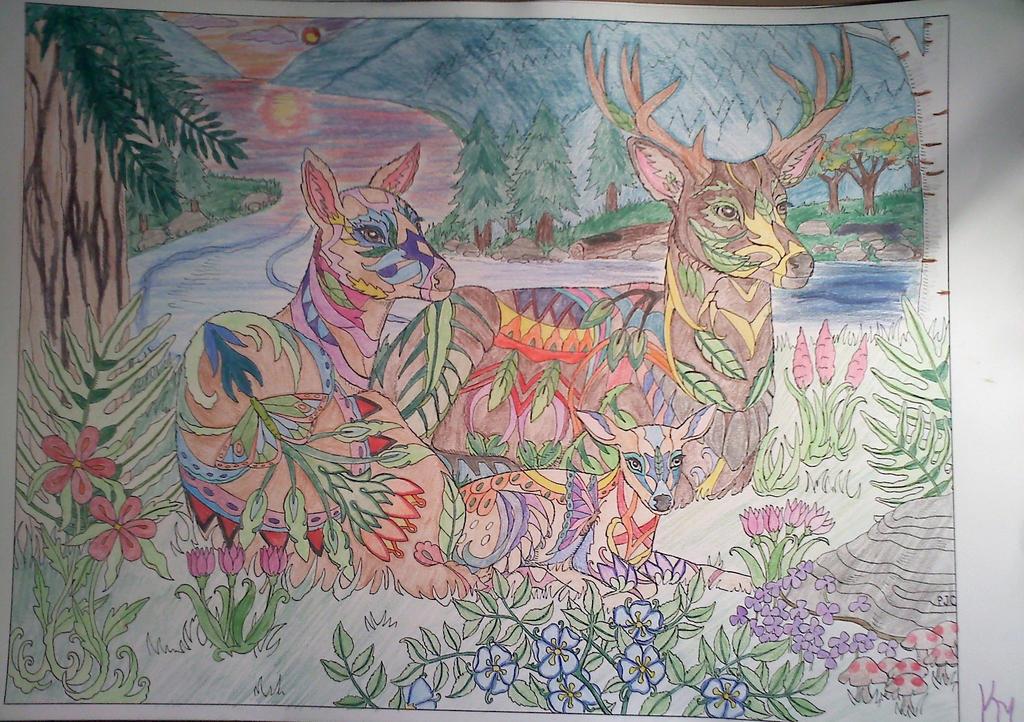 Deer by k-baby-bug