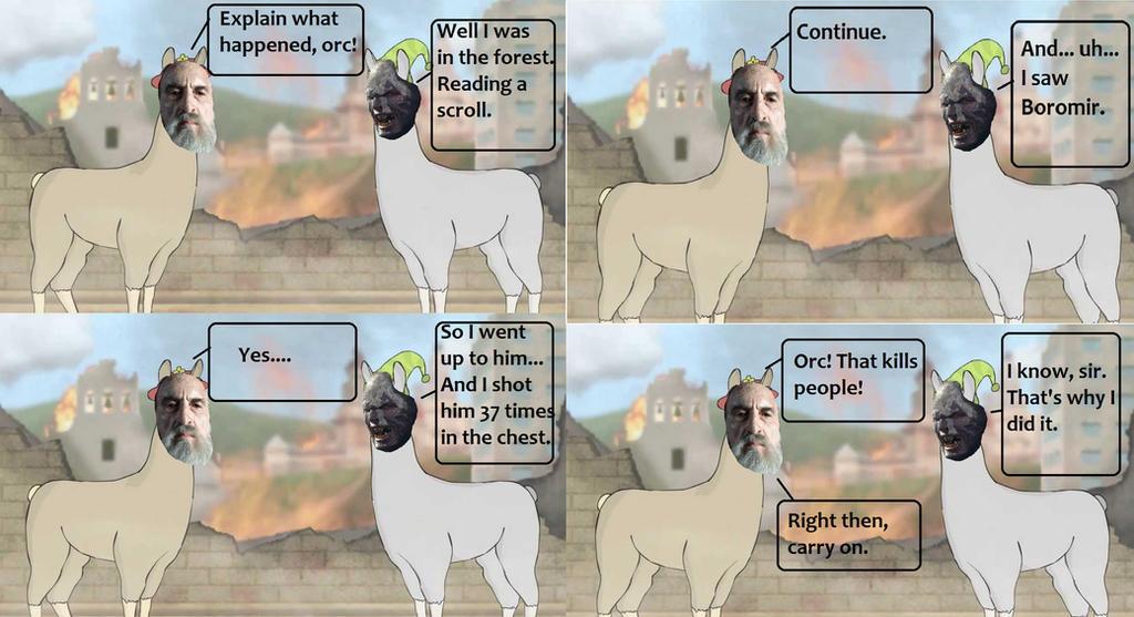 Llamas meet the Ring by k-baby-bug