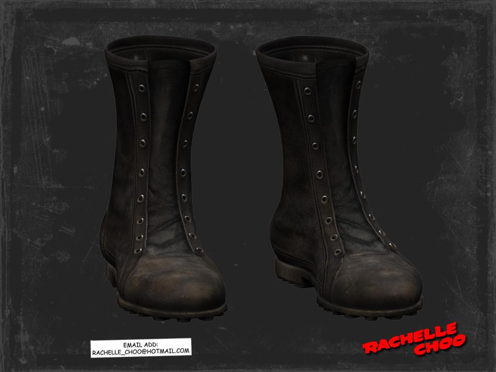 Sin city marv 3d model boots by micaelarachelle on deviantart for Deviantart 3d models