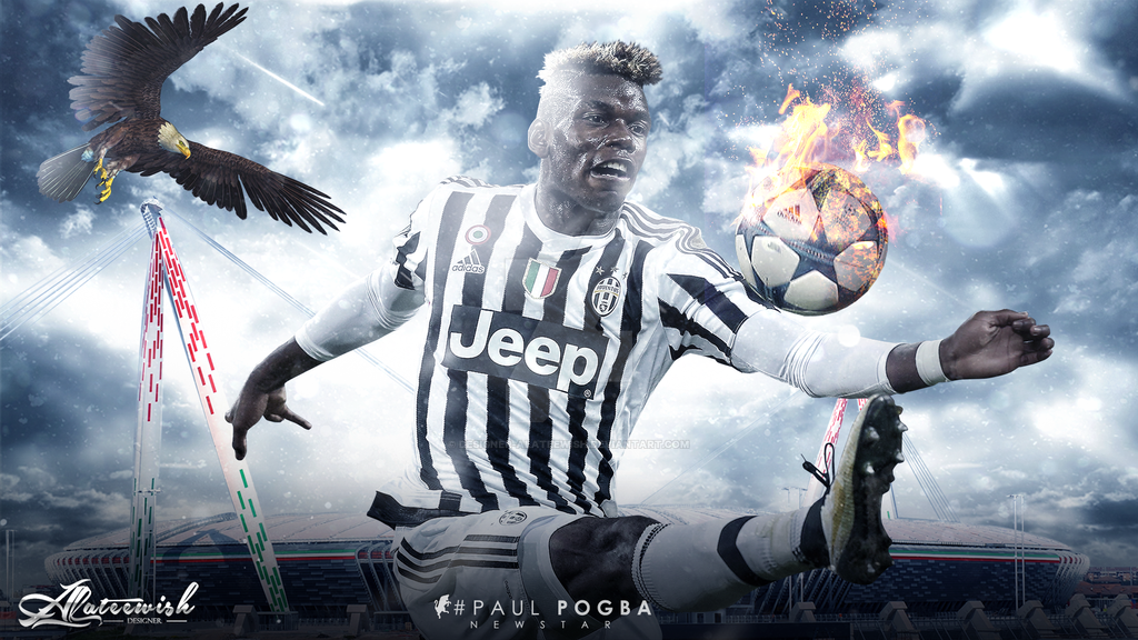 Paul Pogba 15-2016 Wallpaper By Designer-alateewish On