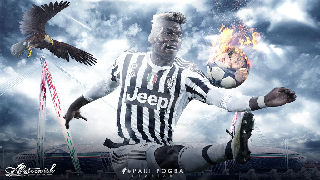 Paul Pogba 15-2016 Wallpaper By Designer-alateewish On