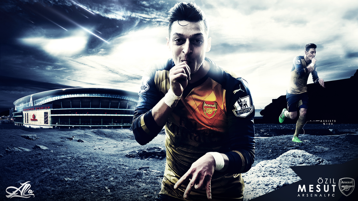 Mesut Ozil 15-2016 Wallpaper By Designer-alateewish On