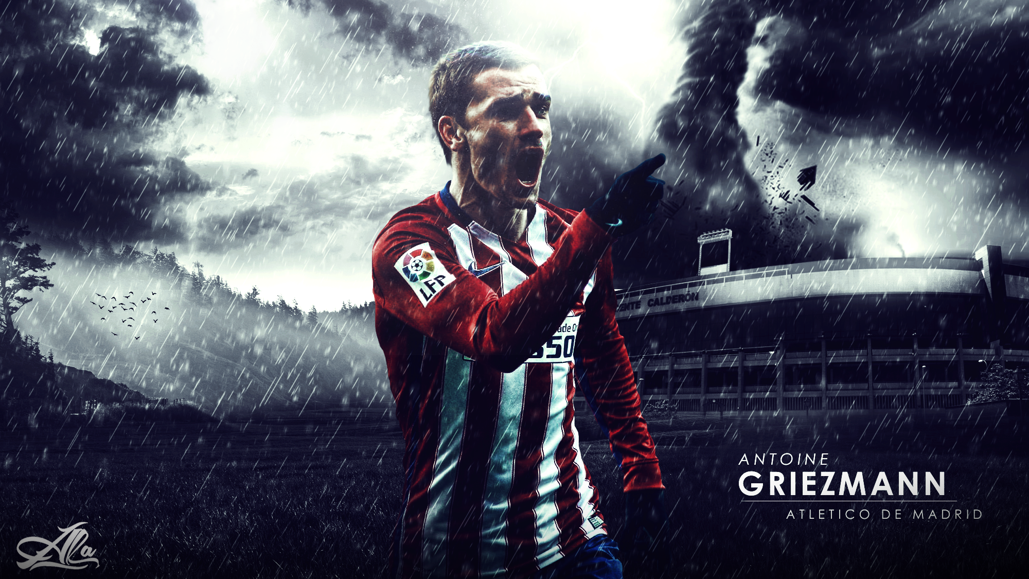 Antoine griezmann atletico de madrid 15 2016 by designer antoine griezmann atletico de madrid 15 2016 by designer alateewish voltagebd Image collections