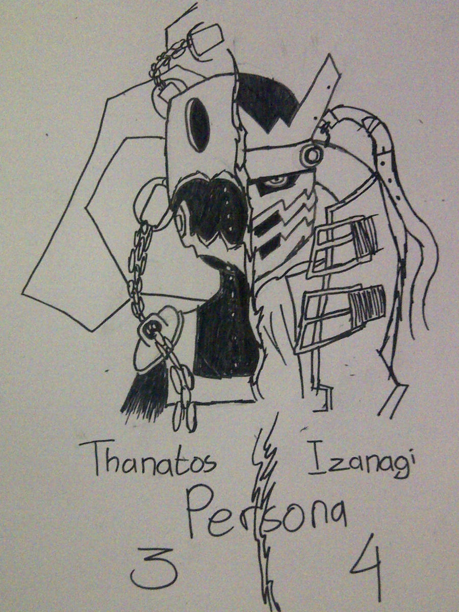 Thanatos Persona 3 And Izanagi Persona 4 By Kh980726 On