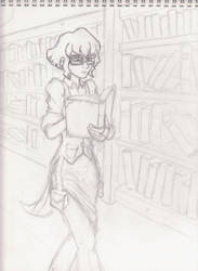 In the Library by Requiem7