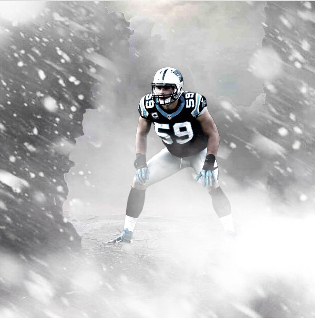 Luke Kuechly Giant Artwork By JRSCREATIVE