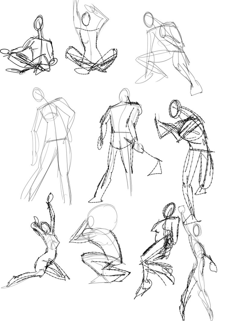 A Year of Gesture Drawings: 003/365 by TommyOliverDraws