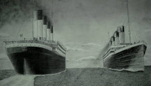 Titanic and Olympic.