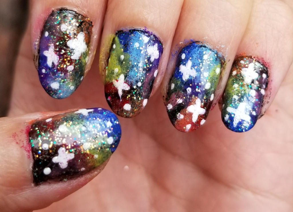 My Rainbow Galaxy Nails by princessahagen on DeviantArt