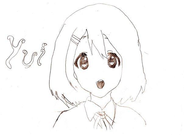 Line Art Hirasawa Yui : How to draw yui hirasawa