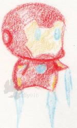 chibi ironman by elfy016