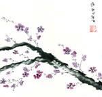 Plum Blossom Sumi-E