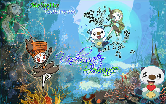 Meloetta x Oshawott ~ Underwater Romance Wallpaper