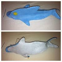 Haru Dolphin Plush WIP 2