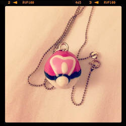~Clay Projects~ Pokemon Loveball Necklace