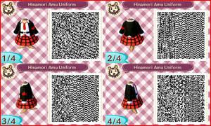 ~Animal Crossing~ QR Codes - Hinamori Amu Uniform by sakurablossom143