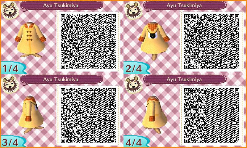Animal Crossing Qr Codes Ayu Tsukimiya Kanon By