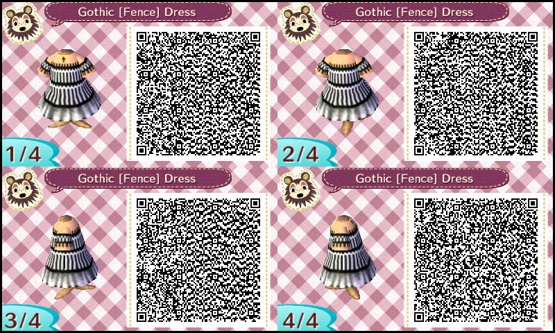 Animal Crossing Qr Codes Gothic Fence Dress By Sakurablossom143