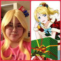 ~Prop~ Love Live! Eli Ayase XMAS Hair Clips 2