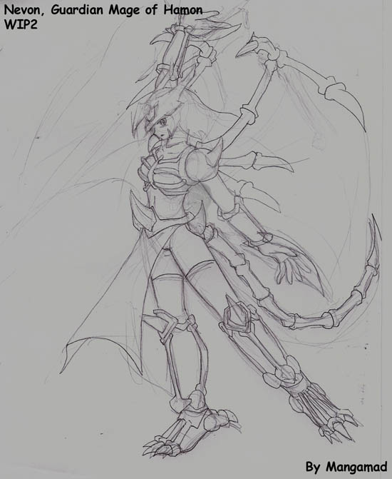 Guardian Mage Nevon WIP by Mangamad