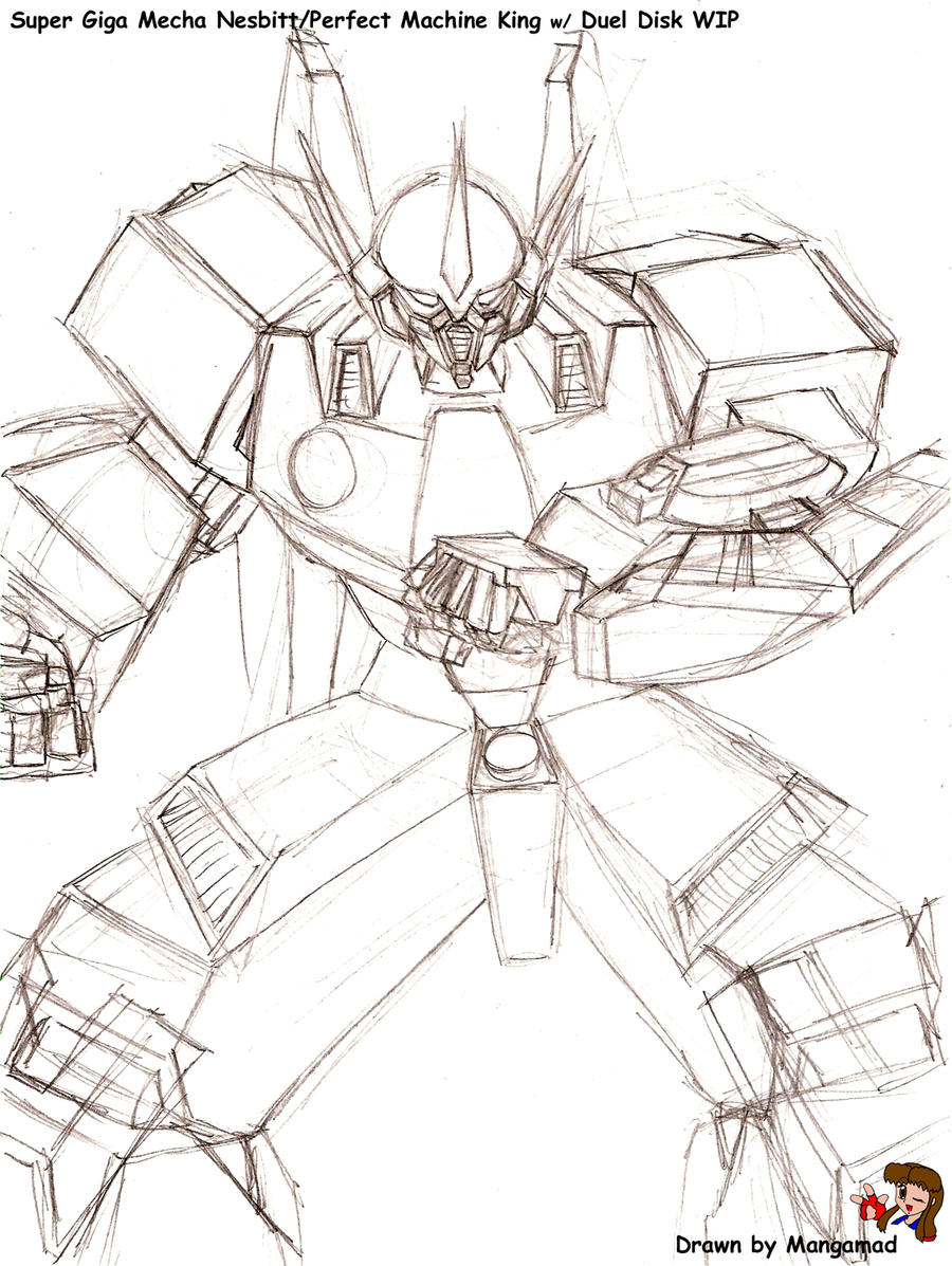 Super Giga Mecha Nesbitt WIP by Mangamad