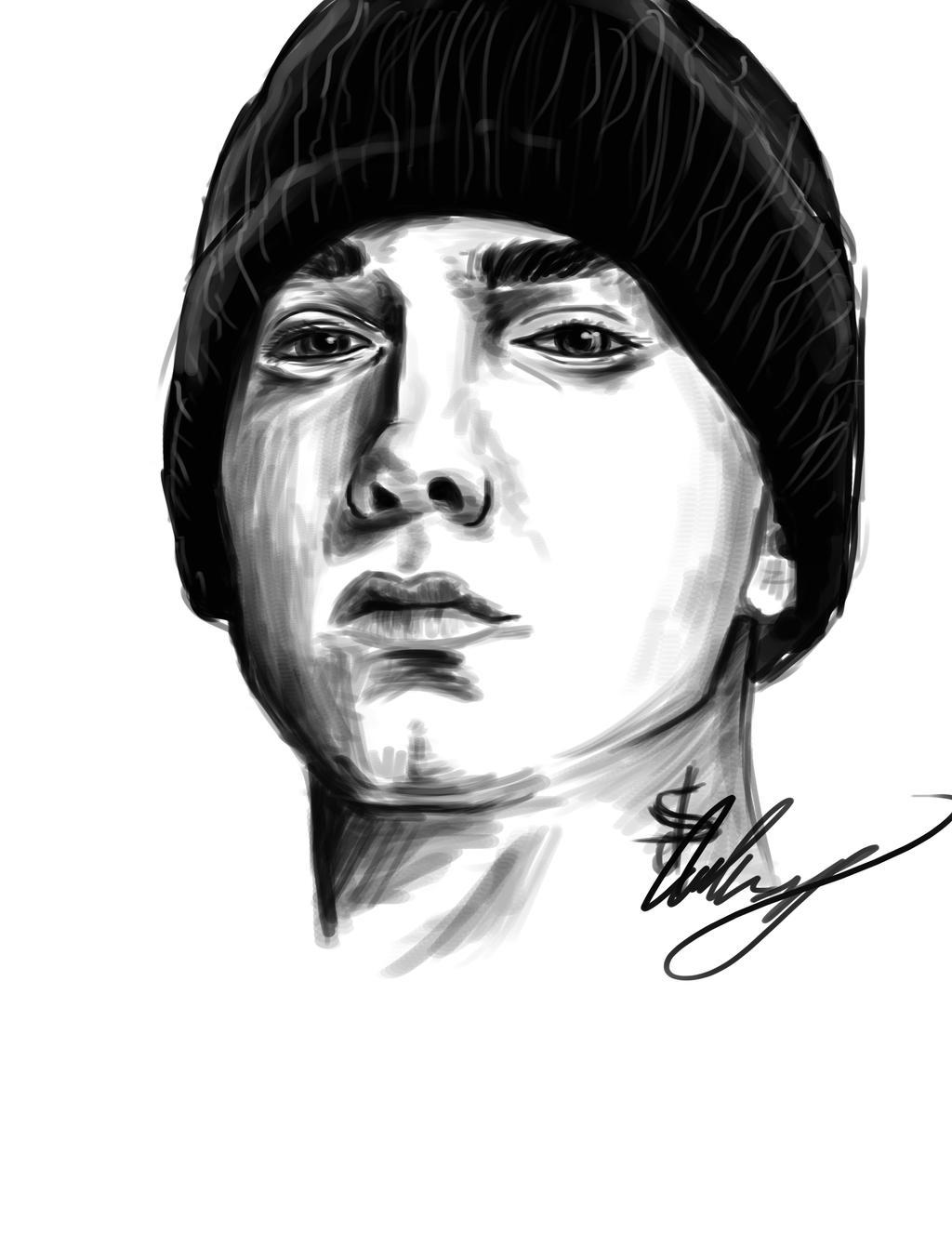 Eminem Drawing Sketches on Sketch Art Download