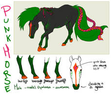 The punk Horse ref sheet by CyciTheConqueror