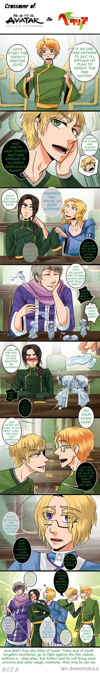 Hetalia + ATLA - Crossover -Part 4 by Zamarazula