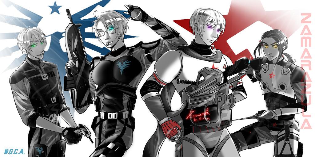 Hetalia - Nuclear Dawn Game Crossover by Zamarazula