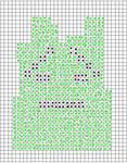 mooninite knit chart