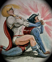 POWERGIRL SUPERMAN  BACK BREAKER 316 by MajorO