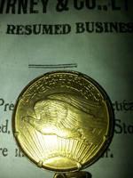 U.S. Gold Eagle Dollar by menapia
