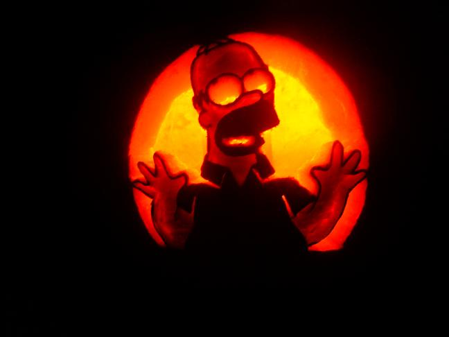 Homer Simpson - 2007 by SmithPumpkinCarver