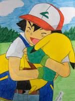 Time of Pika Cuddle by Ash-Misty-Pikachu