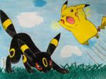 Pikachu and Umbreon