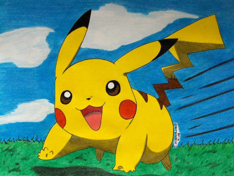 Pikachu is running to Ash