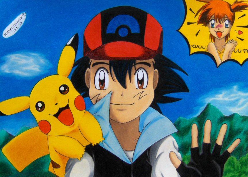 Hi my dear +he is so cuuuute+ by Ash-Misty-Pikachu