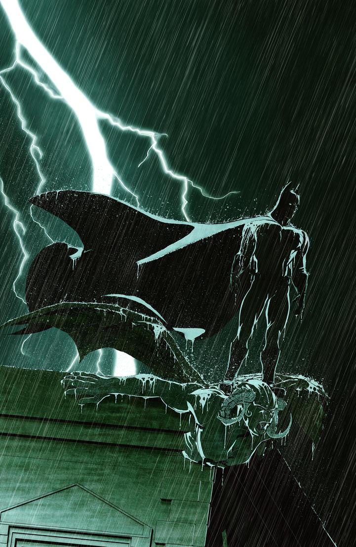 Batman in the rain by maxx0