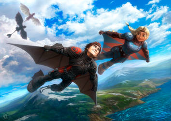 How to Train Your Dragon DUO by RUSvobodin